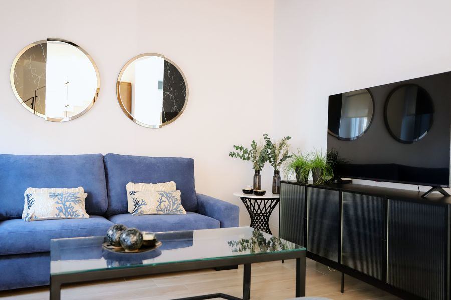 Mueble de la tele en negro