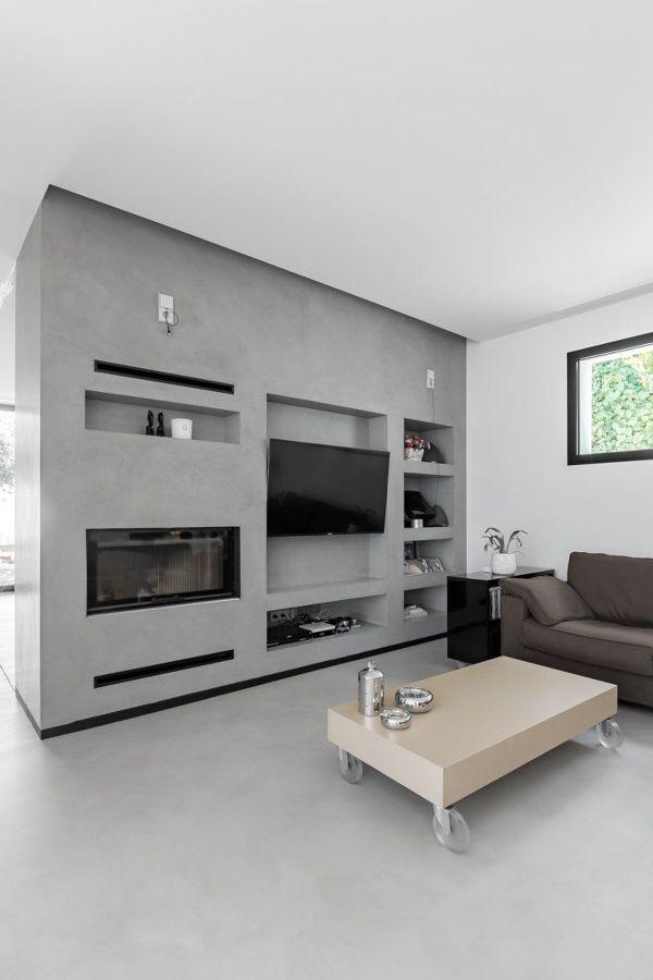 Mueble de microcemento