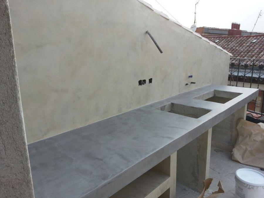 Foto: Mueble de Obra Revestido de Microcemento de ...