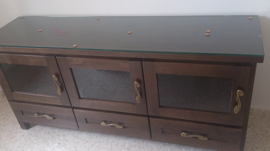 Mueble de televisor en madera hecho a medida ideas carpinteros - Muebles de madera a medida ...