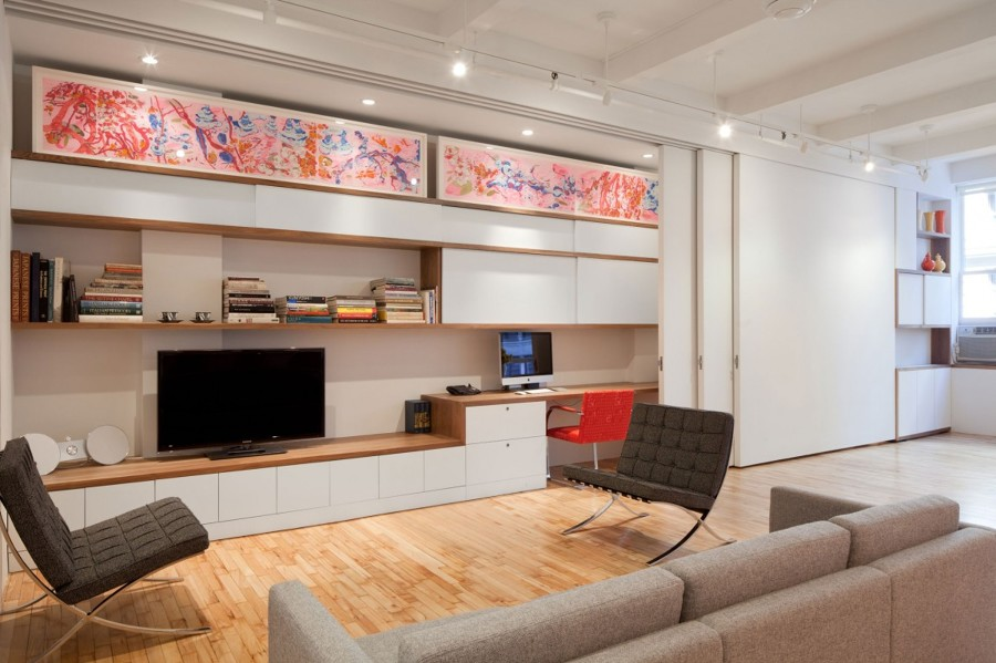 Mueble de TV con puertas correderas