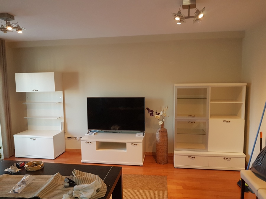 mueble de wengue lacado en blanco