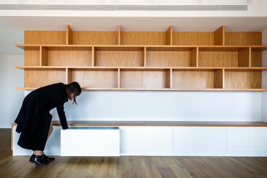 mueble diseñado a medida para el espacio