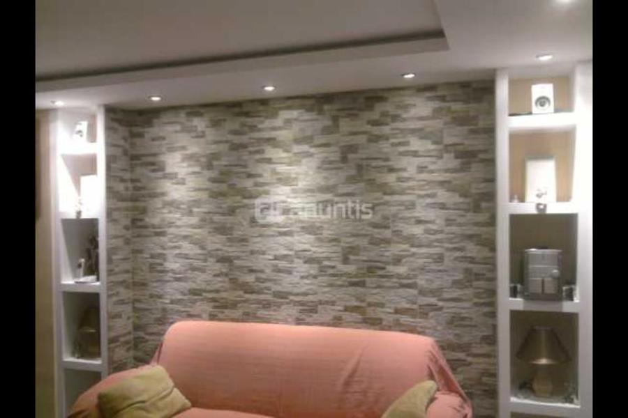 mueble escayola con luces y forrado de pavimentoi piedra - Muebles De Escayola