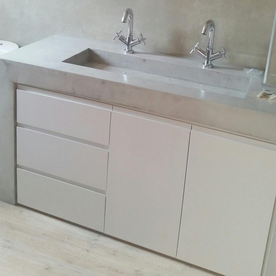 Mueble lavabo en Titanio