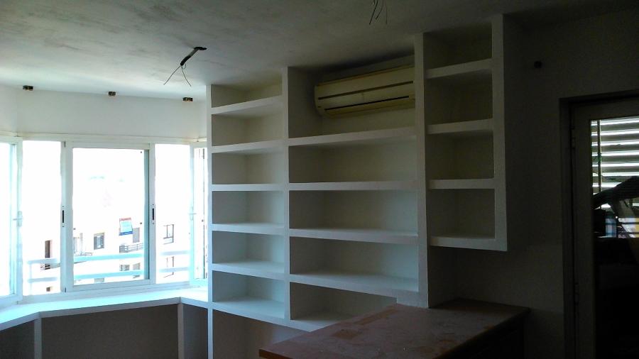 Foto Mueble Libtrería Pladur de Todoreformasenmallorca #413080