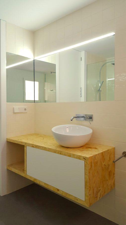 Mueble osb en baño