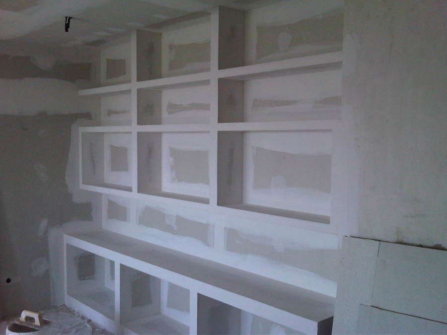 Mueble pladur para salon