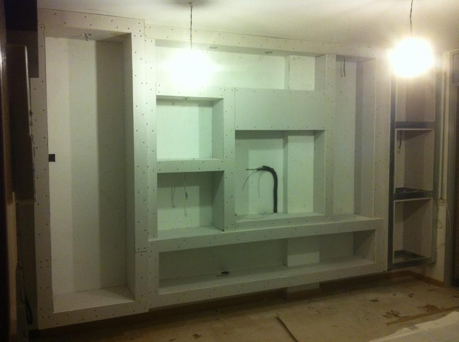 Montaje de mueble de pladur en comedor ideas reformas for Muebles pladur