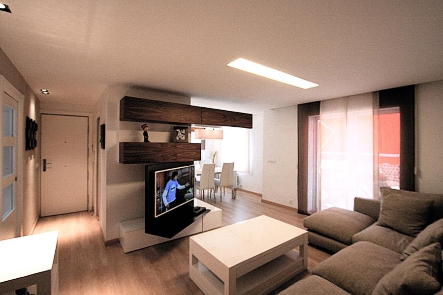 Mueble rotativo TV. Vista des del Salon