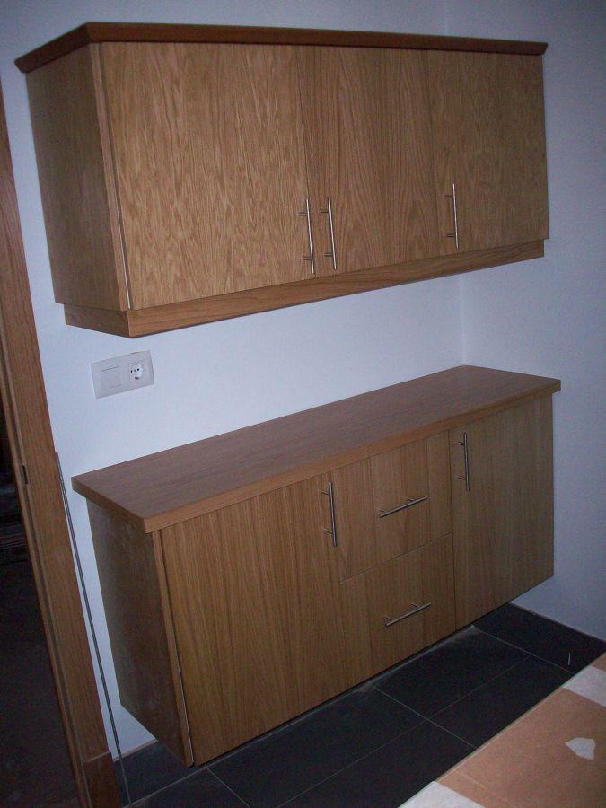 Muebles cocina rechapado de roble