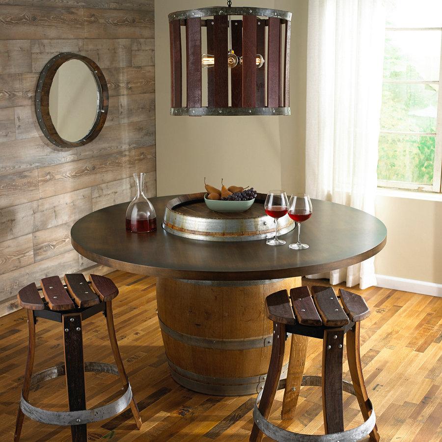 Decora con barriles de vino y dale a tu hogar un toque for Adornos para bares rusticos