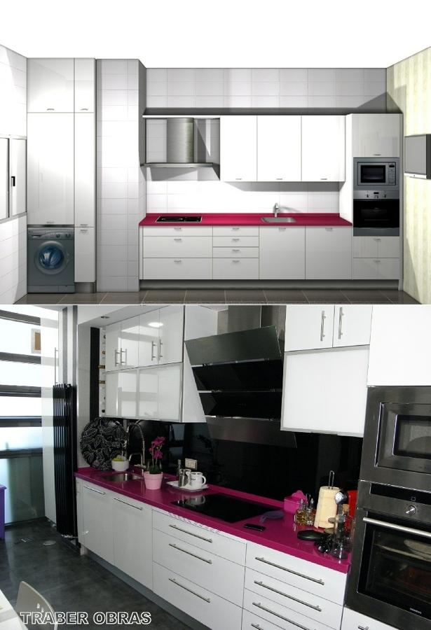 Reforma completo de cocina por traber obras ideas for Proyecto muebles de cocina