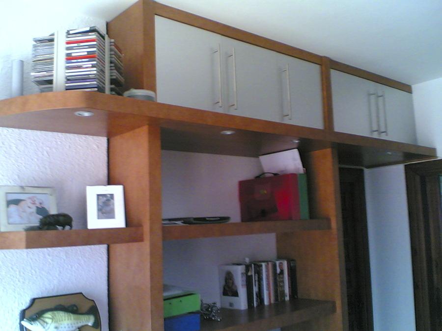 Muebles de estudio. Altillo y puerta de paso.