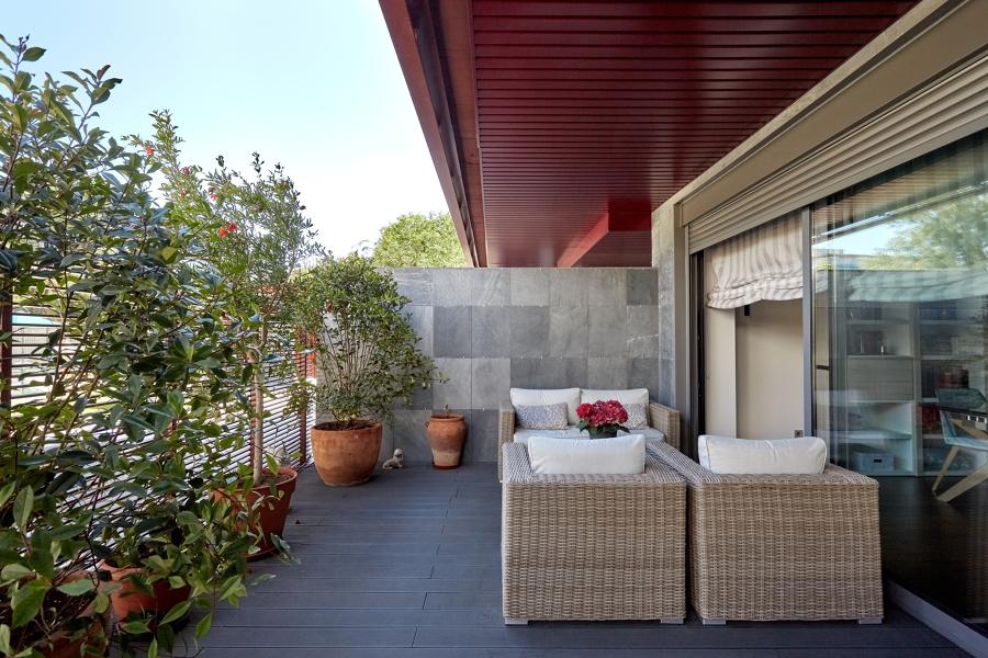 Muebles de médula para la terraza