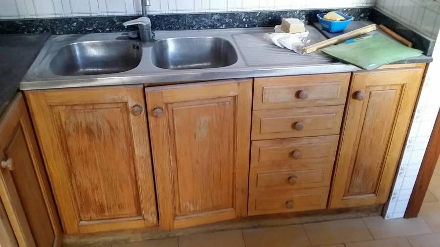 Lacado muebles de cocina ideas reformas viviendas - Muebles para fregaderos ...
