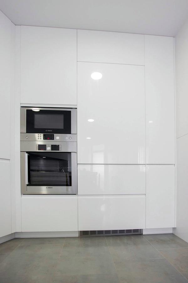 Montaje de Cocina Muebles Lacados Blancos Brillo  Ideas Muebles
