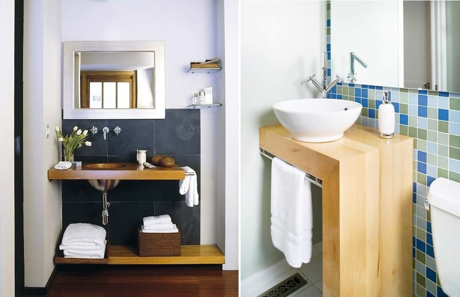 5 trucos para aprovechar el espacio de tu ba o ideas for Banos pequenos muebles