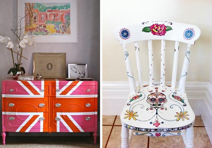 Viva el color renueva tus muebles con un poco de pintura - Muebles antiguos pintados de blanco ...
