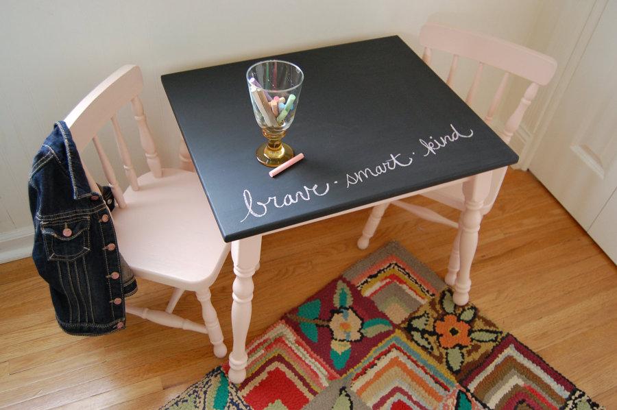 Viva el color renueva tus muebles con un poco de pintura for Muebles infantiles mesas y sillas