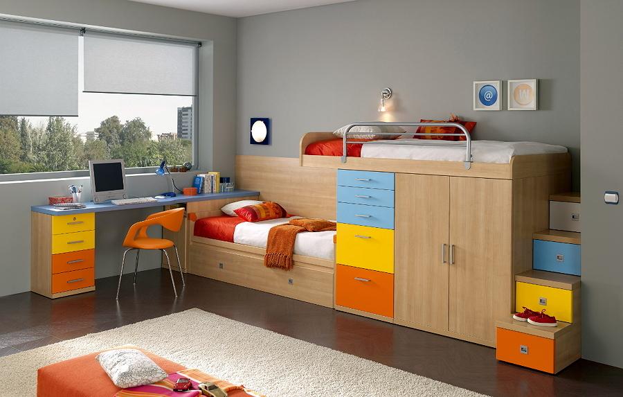 La versatilidad de los dormitorios juveniles ideas for Muebles paco caballero