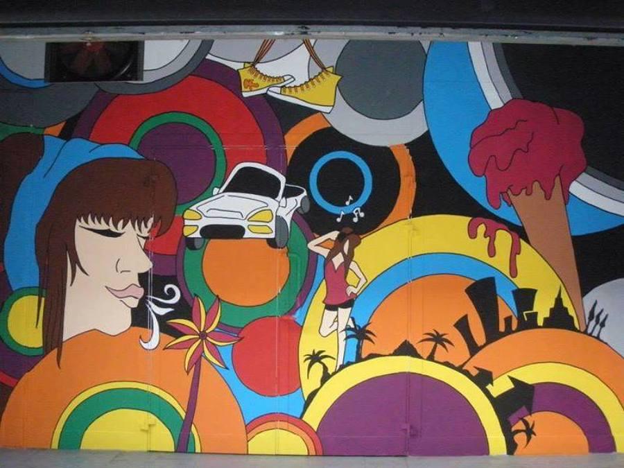 Mural en lonja