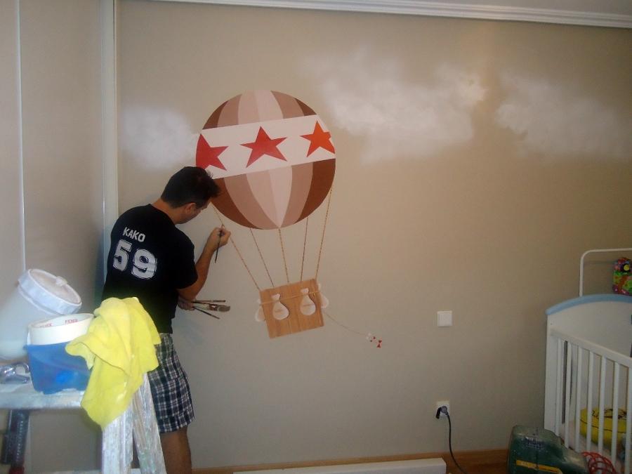 Habitacion infantil ideas pintores - Mural habitacion infantil ...
