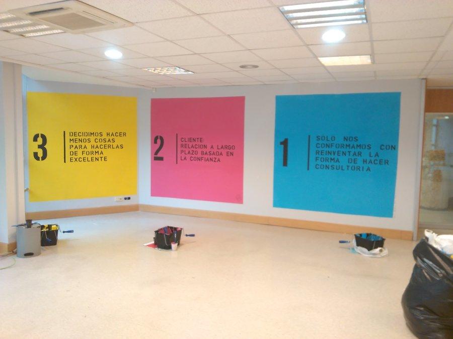 Murales realizados por los participantes