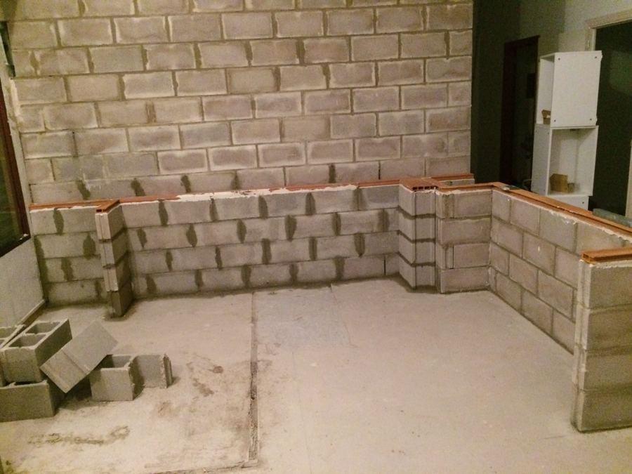 muro bloques hormign finalizado
