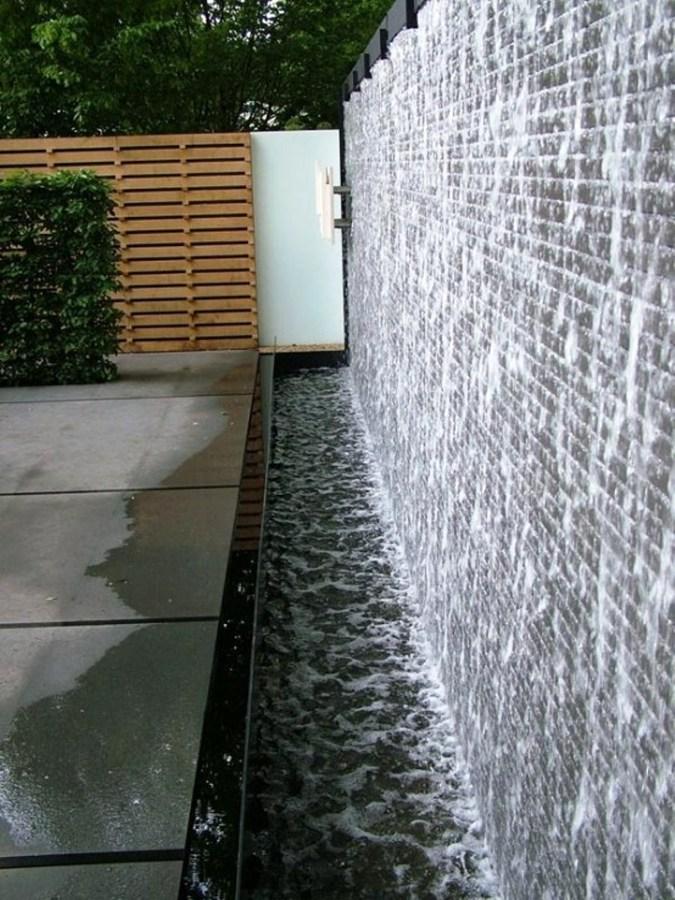 Fuentes decorativas un oasis en tu terraza o jard n - Muro de agua ...