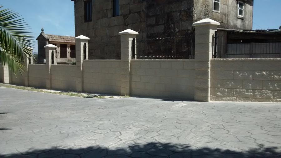 Muro de bloque visto