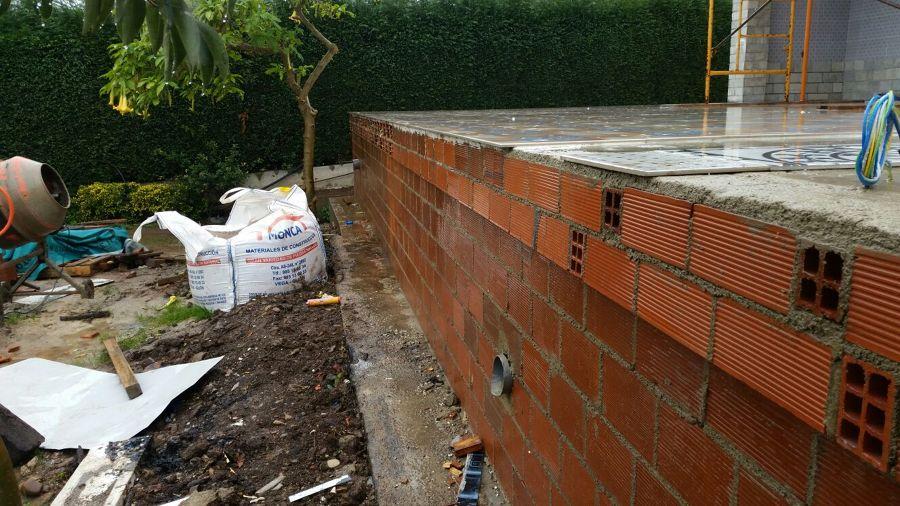 Muro de tabique de terraza