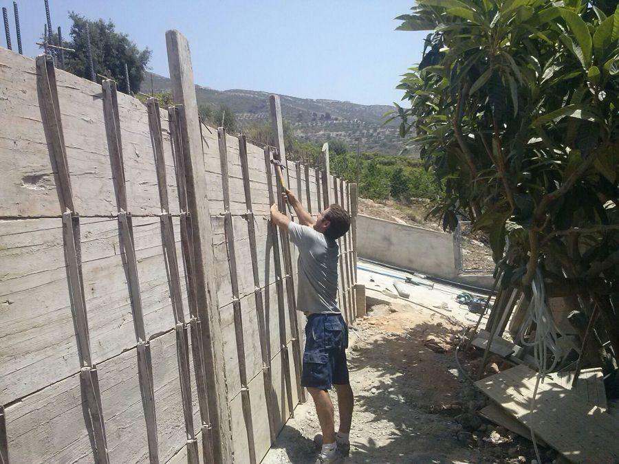 muro encofrado