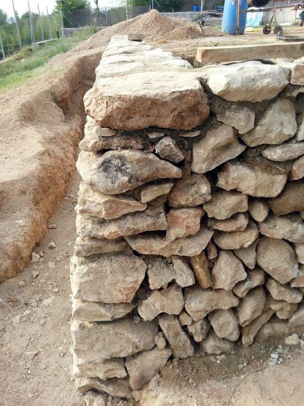 muro piedra seca ideas alba iles