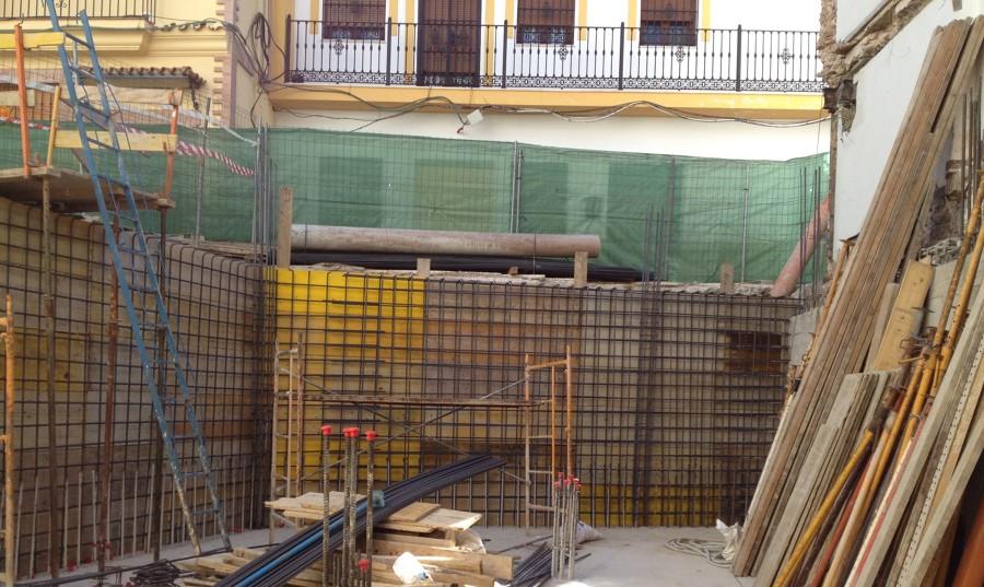 Muros contención de sotano