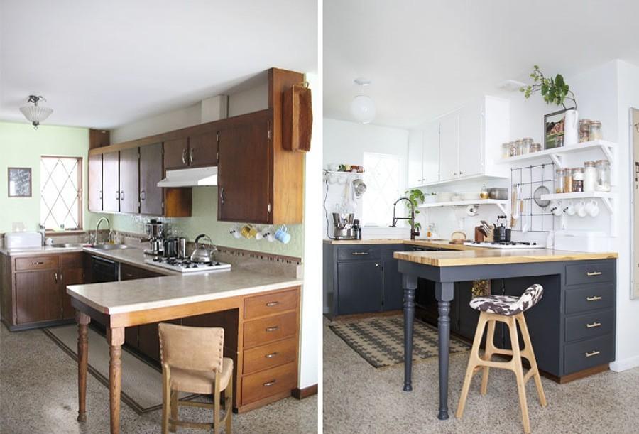 El antes y despu s sin obras de 6 cocinas ideas reformas for Cocinas de obra