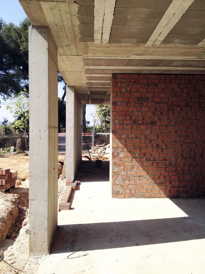 Obras - Vista del pasillo