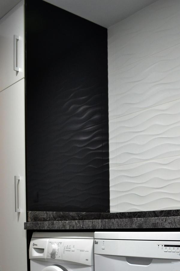 Contrastes Lacado Brillo y Textura en alicatados porcelánicos
