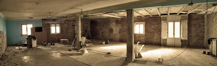 Estado inicial, tras la demolición.