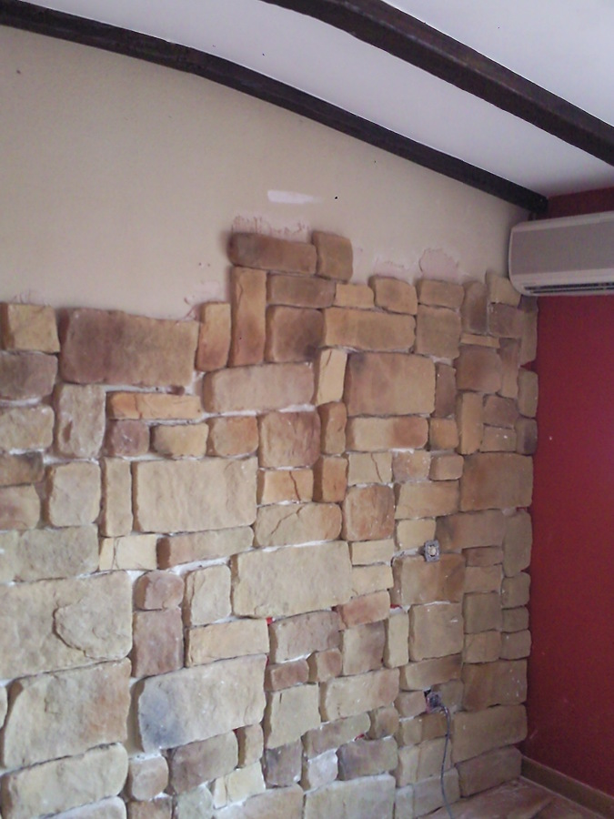 Piedra decorativa ideas pintores - Limpiar piedra artificial ...