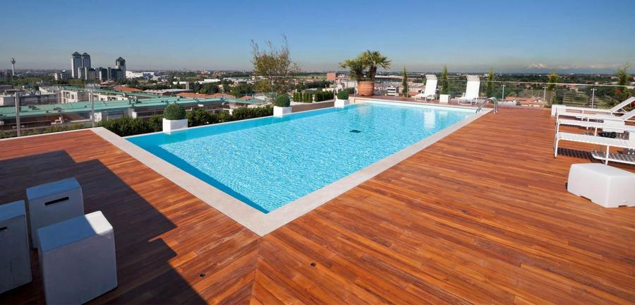 Foto piscina prefabricada para azotea de miriam mart for Construir alberca en azotea