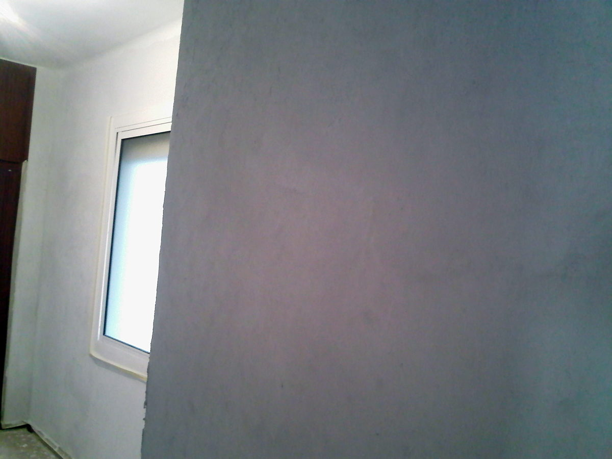 Foto paredes de habitaci n lisas y preparadas para pintar - Pintar paredes lisas ...