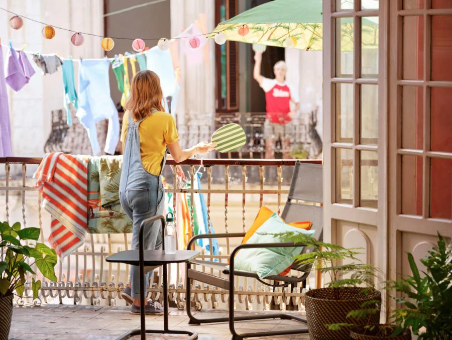 Novedades verano IKEA 2020 balcón con mobiliario exterior