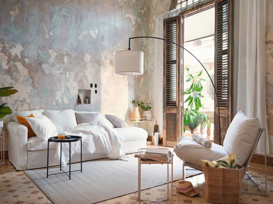 Novedades verano IKEA 2020 Sofá con fundas frescas.