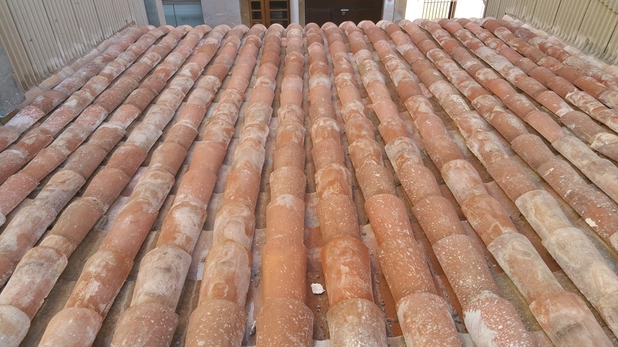 Nueva cubierta con tejas reutilizables