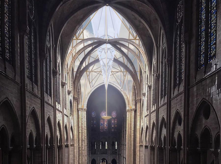 Nueva cubierta de vidrio para Notre-Dame