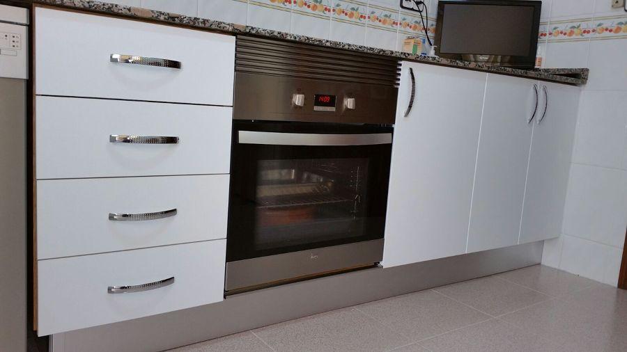 Nueva estética inferior de la cocina