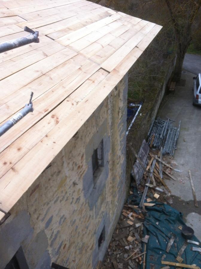 Nueva tarima de tejado