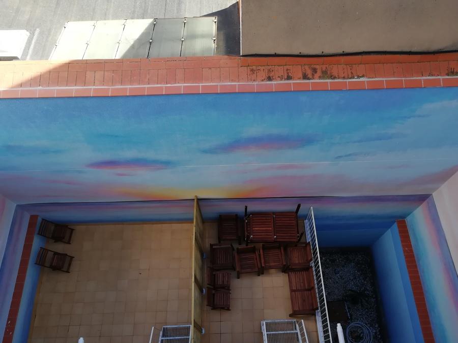 Nuevo mural y vista desde terraza de la finca 2
