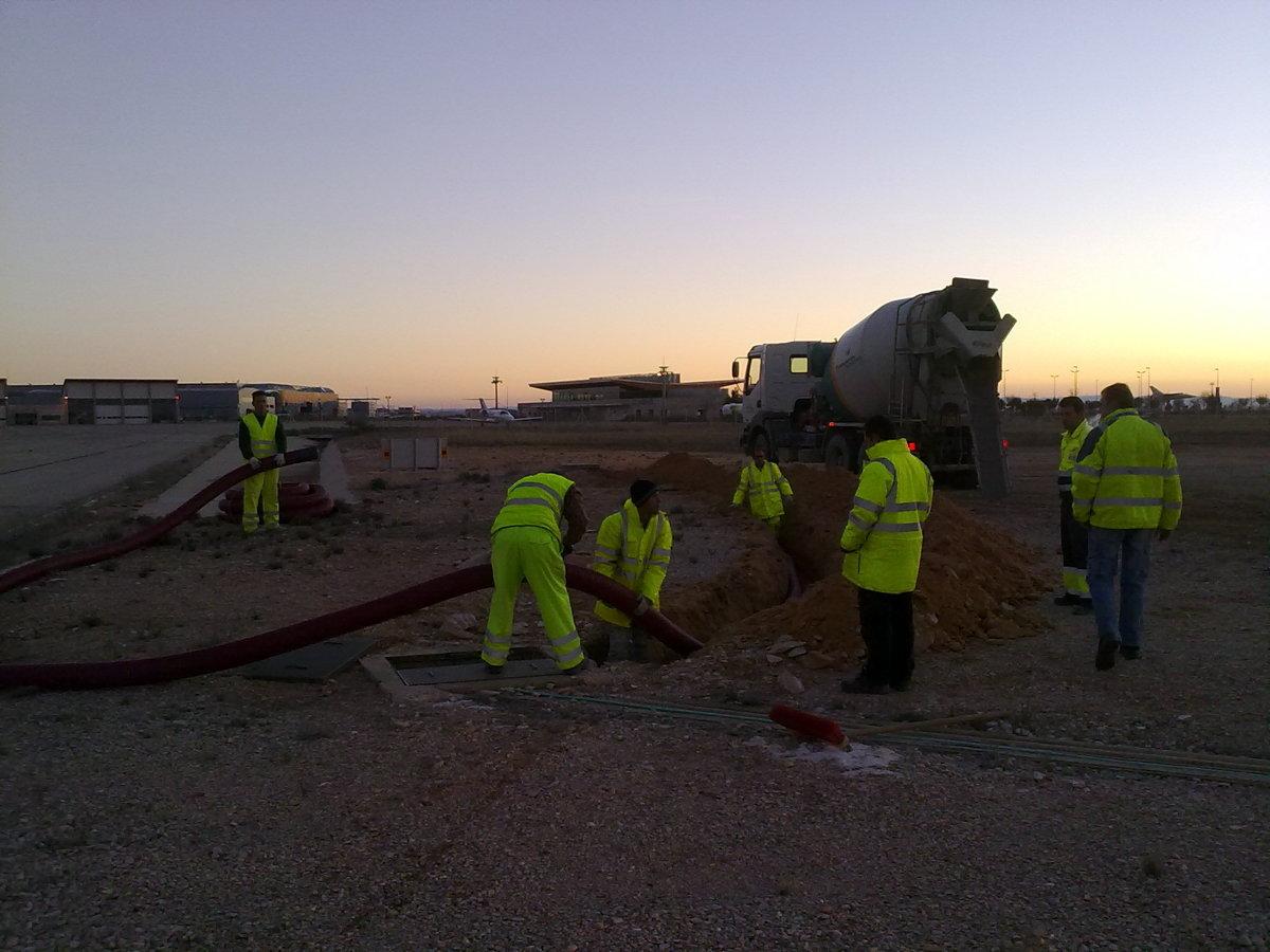obra civil aeropuerto Albacete